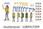 traveler character animation... | Shutterstock .eps vector #1389917399