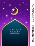 ramadan kareem greeting card on ... | Shutterstock .eps vector #1389920240