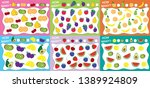 set of educational games for... | Shutterstock .eps vector #1389924809