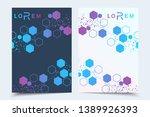 business templates brochure ... | Shutterstock .eps vector #1389926393