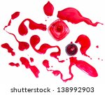 red nail polish bottle with... | Shutterstock . vector #138992903