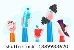 sport exercise web banner. time ... | Shutterstock .eps vector #1389933620