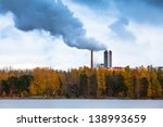 air pollution by smoke coming... | Shutterstock . vector #138993659