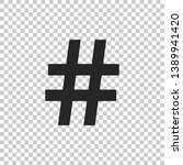hashtag icon isolated on...