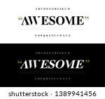 elegant awesome alphabet... | Shutterstock .eps vector #1389941456