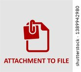 filled attachment to file icon. ... | Shutterstock .eps vector #1389942980