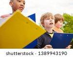 children as elementary school...   Shutterstock . vector #1389943190