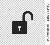 open padlock icon isolated on... | Shutterstock . vector #1389943460