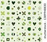 seamless vector pattern  cute... | Shutterstock .eps vector #1389948830