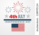 vector 4th of july american... | Shutterstock .eps vector #138995114