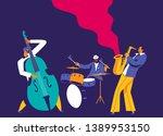 Jazz Musicians Trio. Modern...