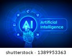 ai. artificial intelligence.... | Shutterstock .eps vector #1389953363