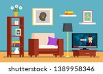 the mess in the room  dirty... | Shutterstock .eps vector #1389958346
