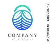 padlock logo abstract leaf...   Shutterstock .eps vector #1389960743