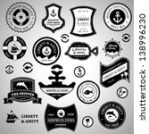 nautical retro labels  seal and ... | Shutterstock .eps vector #138996230
