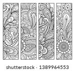 bookmark for book   coloring....   Shutterstock .eps vector #1389964553