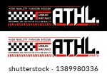 athletic sport race style... | Shutterstock .eps vector #1389980336