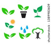 green plant and leave color...   Shutterstock .eps vector #1389983609