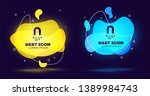 black magnet with money icon... | Shutterstock .eps vector #1389984743