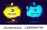black magnet with money icon... | Shutterstock .eps vector #1389984749