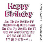 cute uppercase and lowercase... | Shutterstock .eps vector #1389985679