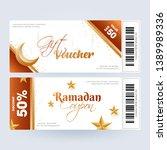 ramadan gift coupon or voucher... | Shutterstock .eps vector #1389989336
