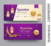 collection of ramadan gift... | Shutterstock .eps vector #1389989399