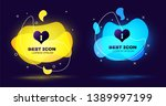 black heart with keyhole icon... | Shutterstock .eps vector #1389997199