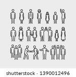 people vector  icons set in...   Shutterstock .eps vector #1390012496