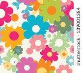 floral pattern seamless | Shutterstock .eps vector #139001384