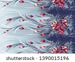 seamless traditional indian... | Shutterstock . vector #1390015196