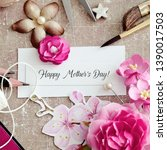 happy mothers day paper... | Shutterstock . vector #1390017503