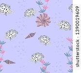 seamless vector illustration.... | Shutterstock .eps vector #1390019609