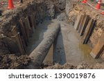 construction of oil and gas... | Shutterstock . vector #1390019876