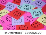 pile of colorful paper notes... | Shutterstock . vector #139002170