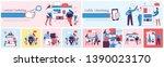 vector illustration of concept... | Shutterstock .eps vector #1390023170