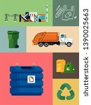 waste energy  recycling and... | Shutterstock .eps vector #1390025663
