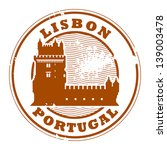 grunge rubber stamp with belem... | Shutterstock .eps vector #139003478