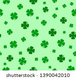 Stock vector vector seamless lucky clover pattern clover pattern for saint patrick s day 1390042010