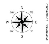 illustration of a compass rose... | Shutterstock .eps vector #1390050260
