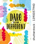 dare to be different. inspiring ... | Shutterstock .eps vector #1390057940
