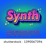colorful modern font effect... | Shutterstock .eps vector #1390067396