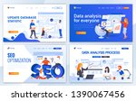 set of landing page design... | Shutterstock .eps vector #1390067456