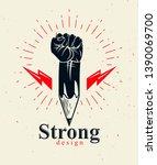 strong design or art power... | Shutterstock .eps vector #1390069700