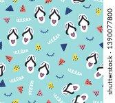 seamless doodle summer pattern. ...   Shutterstock .eps vector #1390077800