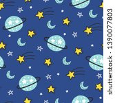 seamless doodle cosmos pattern. ...   Shutterstock .eps vector #1390077803