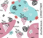 seamless doodle summer pattern. ...   Shutterstock .eps vector #1390077809