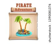 cute cartoon pirate background...