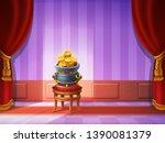 cute cartoon background   room...