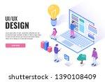 ui   ux design concept. users...